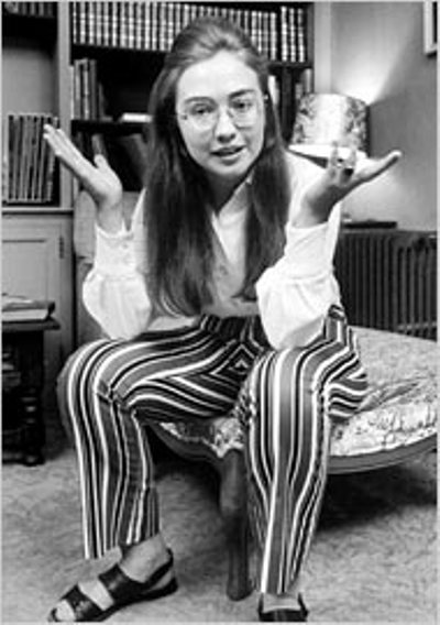 Hillary Rodham våren 1969 vid Wellesley College. Foto: Lee Balterman/Time Life Pictures.