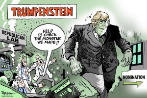 trump as frankenstein