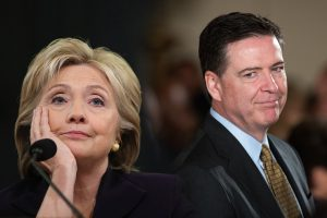 Hillary Clinton och FBI-chefen James Comey